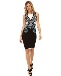 Versace Color Block Print Sheath Dress - Lyst