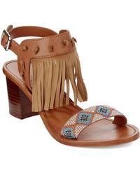 Ash Patchouli Leather Sandals beige - Lyst