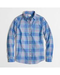 J.Crew Factory Classic Buttondown Shirt in Plaid - Lyst