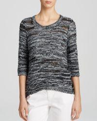 Eileen Fisher Ballet Neck Box Sweater - Lyst