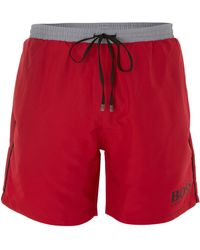 Hugo Boss Starfish Contrast Logo Swim Short - Lyst
