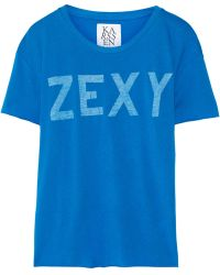 Zoe Karssen Zexy Cotton and Modalblend T-shirt - Lyst
