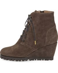 Anyi Lu - Fiona Lace-Up Wedge Boot - Lyst