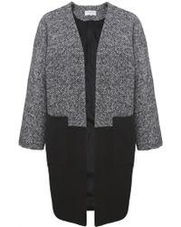 Helene Berman Tweed Contrast Coat - Lyst
