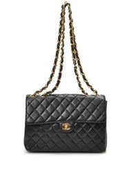 Chanel Pre-owned Jumbo Matelasse Double Chain Shoulder Bag - Lyst