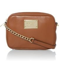 Michael Kors Jet Set Item Tan Cross Body Bag - Lyst