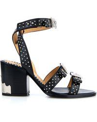 Toga - Studded Leather Block-Heel Sandals - Lyst