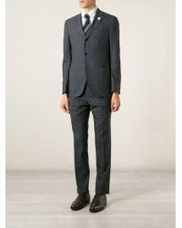Lardini Gray Two-Piece Suit - Lyst