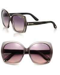 Tom Ford Gabrielle 59Mm Square Sunglasses - Lyst