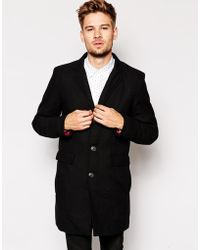 Selected Wool Coat With Detachable Lining - Lyst