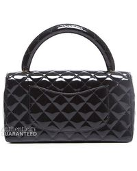 Chanel Pre-owned Patent Medium Kelly Top Handle Flap - Lyst