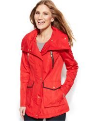 Vince Camuto Hooded Anorak Jacket - Lyst