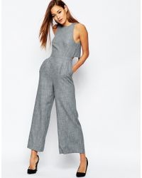 ASOS | Premium Jumpsuit With Cross Back Detail | Lyst