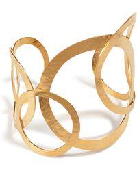 Herve Van Der Straeten | Hervé Van Der Straeten Hammered Gold-plated Hoops Bracelet | Lyst