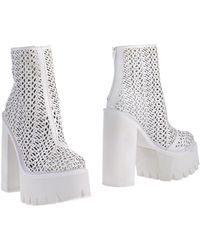Jeffrey Campbell White Ankle Boots - Lyst