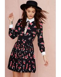 Nasty Gal Bed Of Roses Collared Dress - Lyst