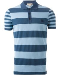 Burberry Brit Striped Polo Shirt - Lyst