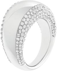 Swarovski Pebble Silver Tone and Crystal Ring - Lyst