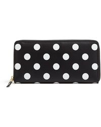 Comme Des Garcons Wallets Polka Dots Printed Zip Around Long Wallet - Lyst