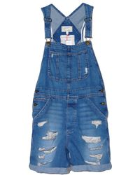 Current/Elliott Tattered Destroy Shortall - Lyst