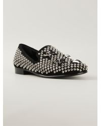 Giuseppe Zanotti Studded Slippers - Lyst