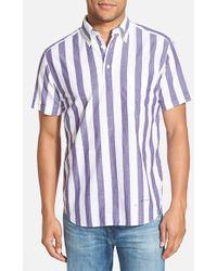 Gant Rugger E-Z Fit Madras Stripe Woven Pullover Shirt - Lyst