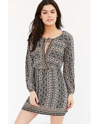 Cope - Long-sleeve Printed Tunic Dress - Lyst