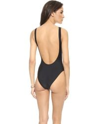 Zoe Karssen - Champ One Piece Swimsuit - Pirate Black - Lyst