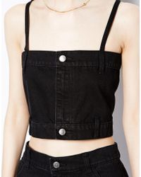 Cheap Monday Denim Crop Top - Lyst