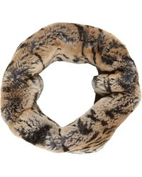 Barneys New York Tigerstripe Fur Cowl - Lyst