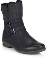 Ugg | Simmens Leather & Felt Shearling-lined Boots | Lyst