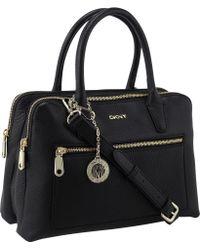 DKNY - Tribeca Leather Satchel Bag - Lyst