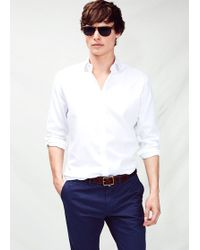 Mango Slim Fit Textured Shirt - Lyst