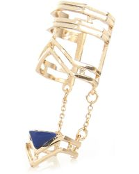 River Island Gold Tone Linked Chain Ring - Lyst