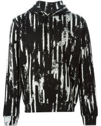 McQ by Alexander McQueen Worn Stripe Hoodie - Lyst