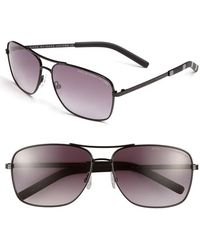 Marc By Marc Jacobs - 59mm Aviator Sunglasses - Shiny Black - Lyst