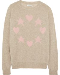 Chinti & Parker Star And Heart-Intarsia Cashmere Sweater - Lyst