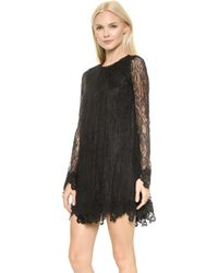 Rachel Zoe Serafina Lace Baby Doll Dress - Black - Lyst