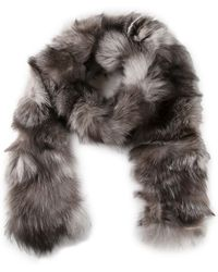 Michael Kors Shredded Fox Fur Scarf - Lyst