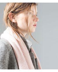 Zara Pink Cashmere-Feel Scarf - Lyst
