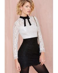 Nasty Gal Tied Up Lace Dress - Lyst