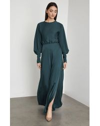 BCBGMAXAZRIA - Bcbg Satin Draped Back Maxi Dress - Lyst ee4eafdf2