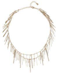 BCBGMAXAZRIA - Pave Stick Necklace - Lyst
