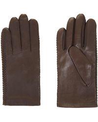 BCBGMAXAZRIA - Whipstitch Leather Gloves - Lyst