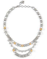 BCBGMAXAZRIA - Chain-link Stone Necklace - Lyst