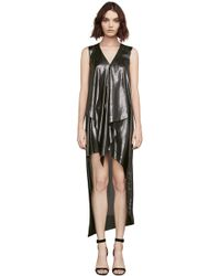 BCBGMAXAZRIA - Bcbg Tara Metallic High-low Dress - Lyst