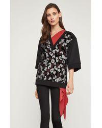 BCBGMAXAZRIA - Bcbg Embroidered French Terry Sweatshirt - Lyst