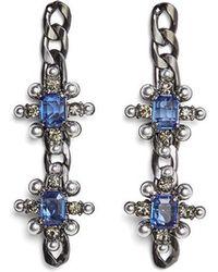 BCBGMAXAZRIA - Chain Spike Earring - Lyst
