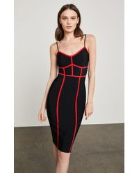 BCBGMAXAZRIA - Sleeveless Contrast Fitted Dress - Lyst