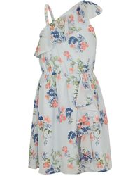 BCBGMAXAZRIA - Bcbg Floral One-shoulder Ruffle Dress - Toddler - Lyst
